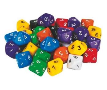 10 Sided Dice (1-10) Bag of 10 - GA061