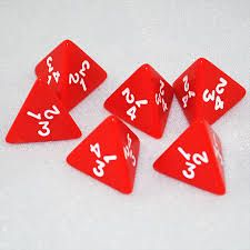 4 Sided Dice (pack of 10) - GA298