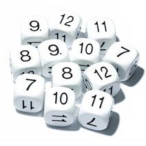 6 sided Dice 22mm 7-12 Pack of 5 - GA312