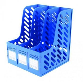 3 Section Plastic Magazine Holder
