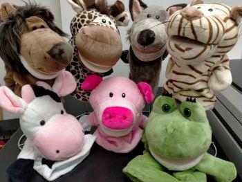 Animal Plush Hand Puppets for Children