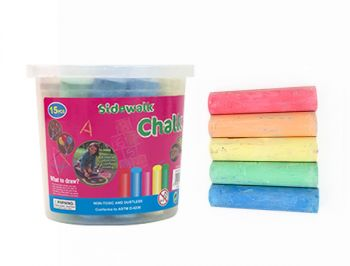 Jumbo Sidewalk Chalk 15 sticks in Tub