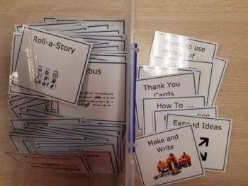 Writing Activity Cards for Taskboard